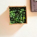 100均のフェイクグリーンで壁面緑化をDIY。ミニサイズからパーテーション風まで。