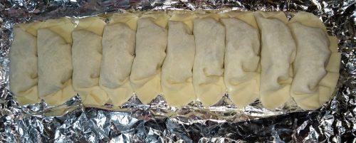 餃子を冷凍するときの並べ方の写真