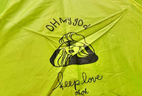 ダイソー ガールズトレンド研究所コラボ第4弾 折りたたみ傘の写真3