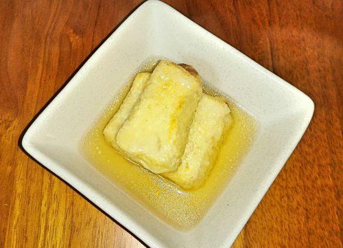 白だしを使って作った揚げ出し豆腐