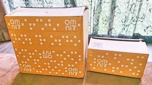 オムニ7のロフトネットストアの段ボール箱