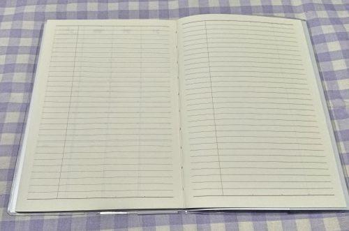 100均セリアの2019年版バーチカル手帳の写真(メモページ)